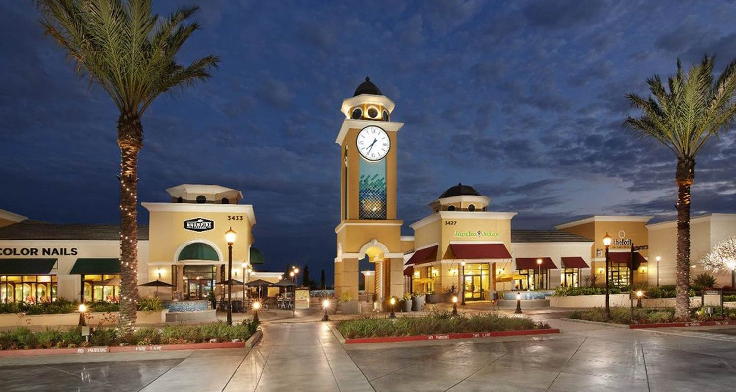 La Costa Town Square Exterior at Night