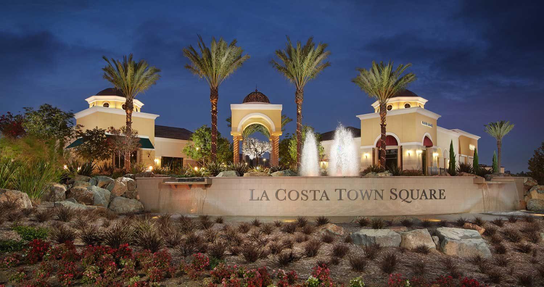 La Costa Town Square Fountain at Night